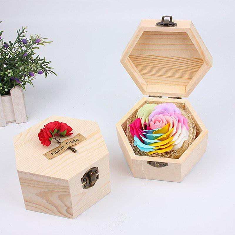 New Soap Flower Sweet Solid Artificial Rose Flower With Wooden Box