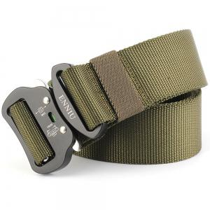 Multi-Function Tactical Waist Belt Quick-Release Military Style Shooters Nylon Weaving Belt with Metal Buckle -
