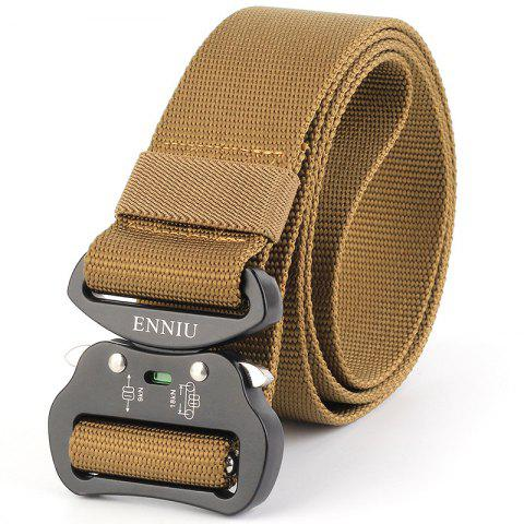 Chic Multi-Function Tactical Waist Belt Quick-Release Military Style Shooters Nylon Weaving Belt with Metal Buckle