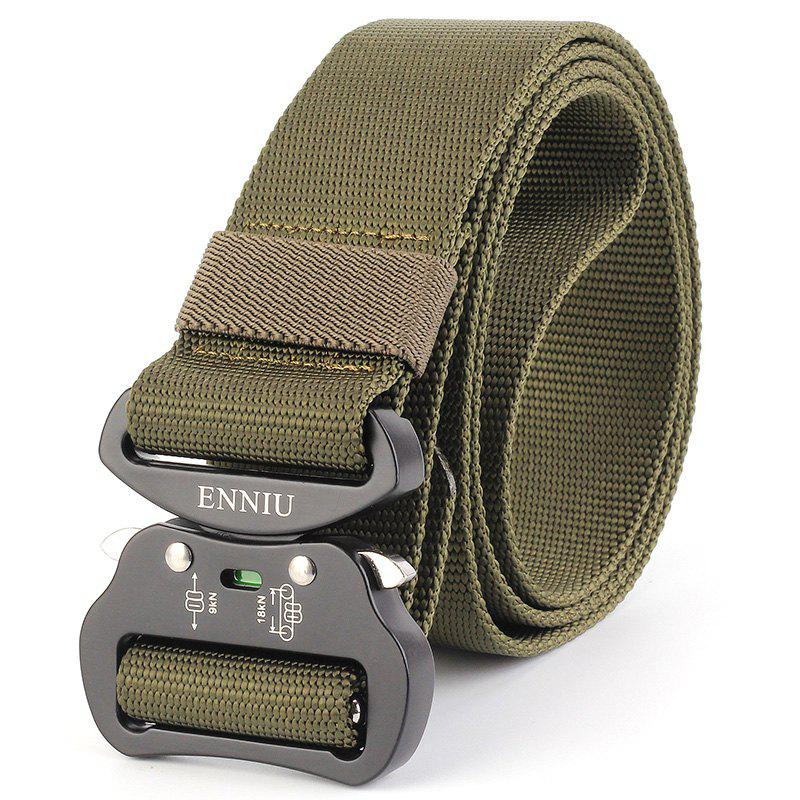New Multi-Function Tactical Waist Belt Quick-Release Military Style Shooters Nylon Weaving Belt with Metal Buckle