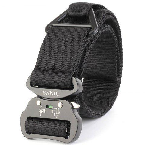 Buy Outdoor Sport Tactical  Waist Belt Quick-Release Military Style Shooters Nylon Weaving Belt with Metal Buckle