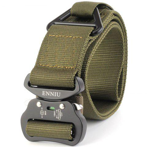 Fancy Outdoor Sport Tactical  Waist Belt Quick-Release Military Style Shooters Nylon Weaving Belt with Metal Buckle