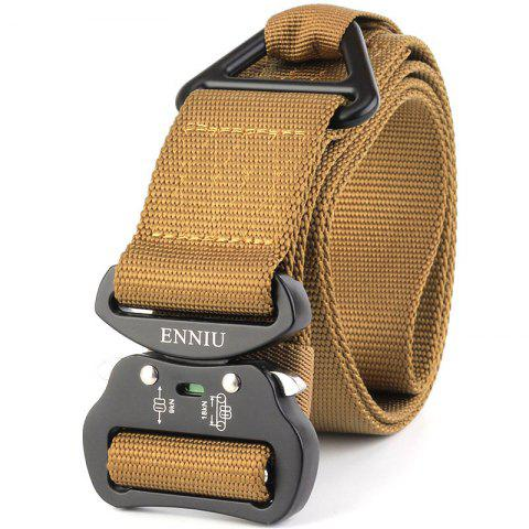 Latest Outdoor Sport Tactical  Waist Belt Quick-Release Military Style Shooters Nylon Weaving Belt with Metal Buckle