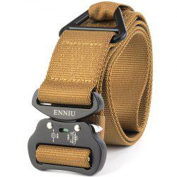 Outdoor Sport Tactical  Waist Belt Quick-Release Military Style Shooters Nylon Weaving Belt with Metal Buckle -