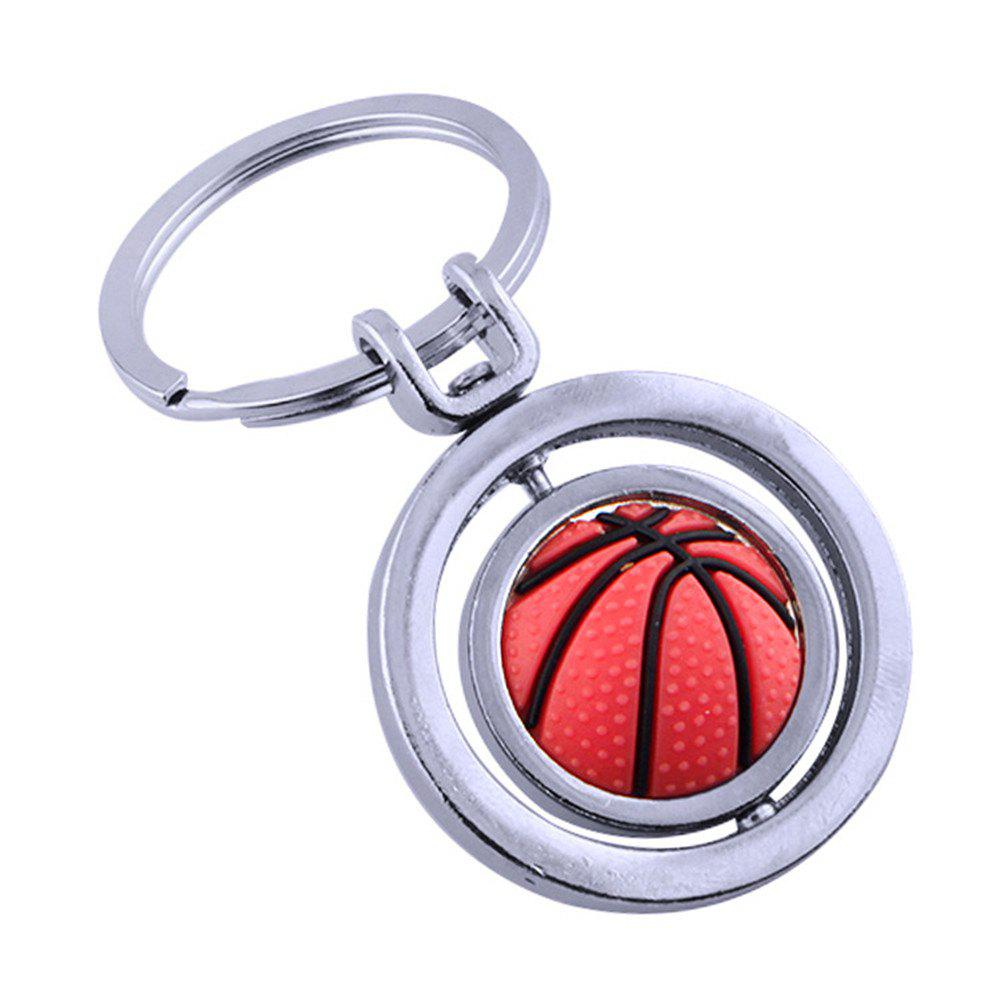 Fashion Basketball Key Chain Metal Key Ring Creative Gift 252316301