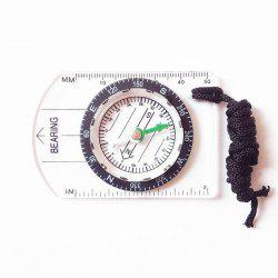 Mini Baseplate Compass Map Scale Ruler Outdoor Camping Hiking Cycling Accessory -