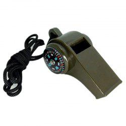 Military Multi-Function High Decibel Survival Whistle Compass Hiking Climbing Accessory -