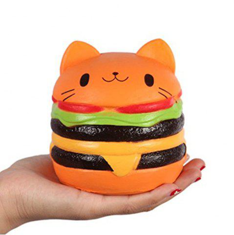 Latest Biging 4 Inch Kawaii Cat Hamburger Bread Squishies Jumbo Slow Rising Stress Toy
