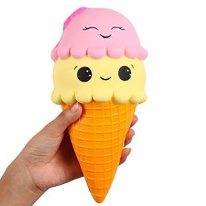 Jumbo Slow Rising Kawaii Cute Squishies Ice Cream Cone Cake Scented of Decompression Toys -