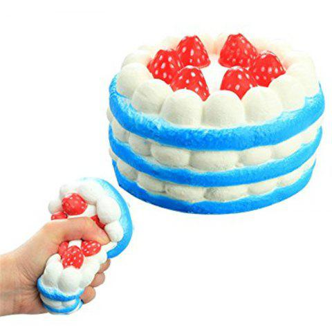 Hot Funny Squishy Toy Made By Enviromental PU Material Replica Three-tiered Strawberry Cake for Different Age Group
