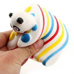 Funny Squishy Toy Made By Enviromental PU Material Replica Cartoon Rainbow Panda Sandwich for Different Age Group -