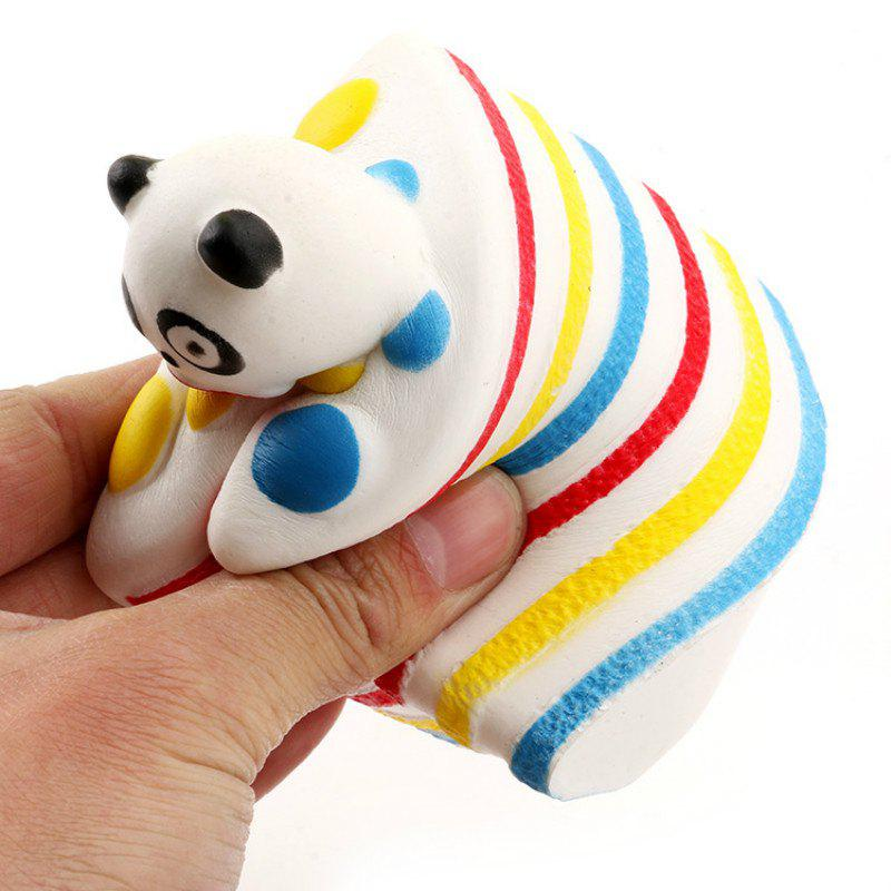 Shops Funny Squishy Toy Made By Enviromental PU Material Replica Cartoon Rainbow Panda Sandwich for Different Age Group