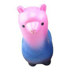 Funny Squishies Colored Alpaca Slow Rising Toys Rainbow Jumbo Cream Scented Time Killer Squeeze Kid Toy Charm Gift -