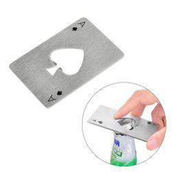 Creative Poker Card Shaped Bottle Opener Stainless Steel Beer Wine Soda Opener Bar Kitchen Tool -