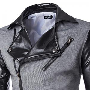 Men's New Fashion Zipper Design Slim Suit -