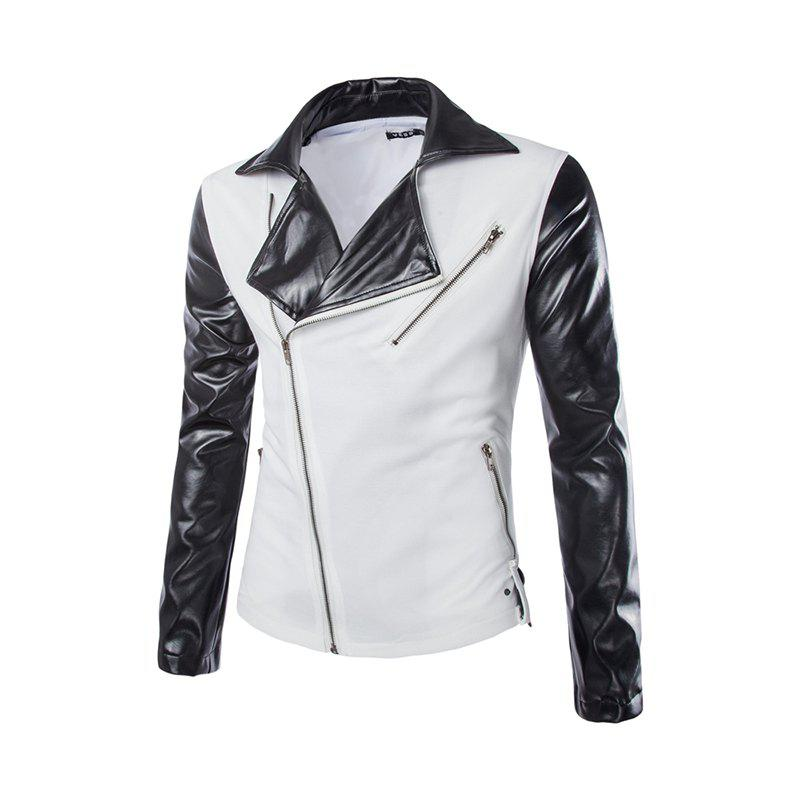Nouveau mode Slim Zipper Design Men Suit