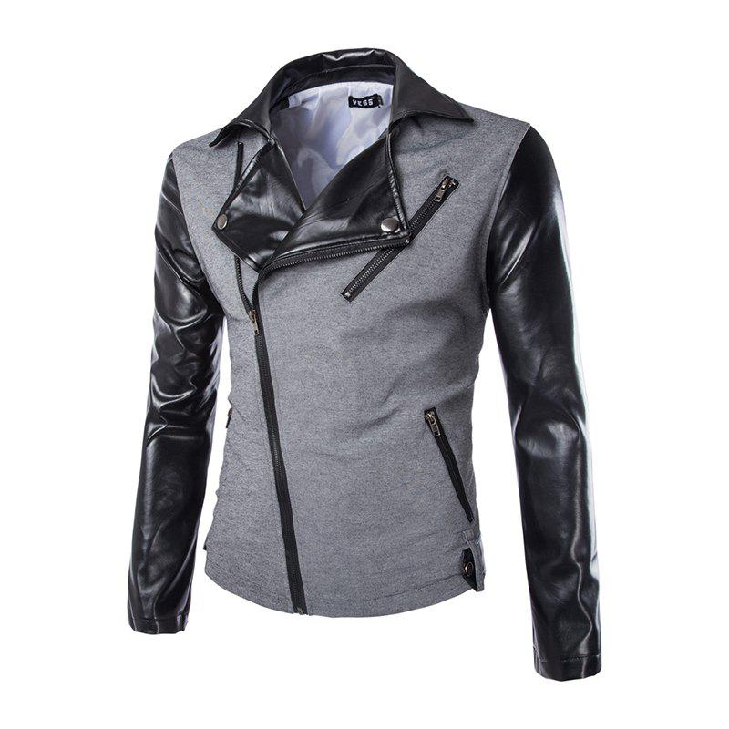 Trendy Men's New Fashion Zipper Design Slim Suit