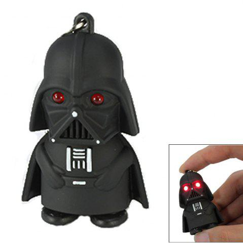 Discount Creative Star Wars Black Warrior Cartoon LED Luminous Sound Key Chain Pendant