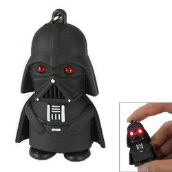 Creative Star Wars Black Warrior Cartoon LED Luminous Sound Key Chain Pendant -