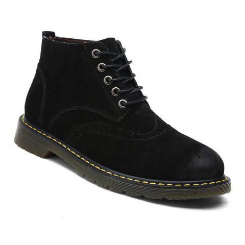 Buy Men's Casual  Leather Soft Cowhide Retro Martin Boots
