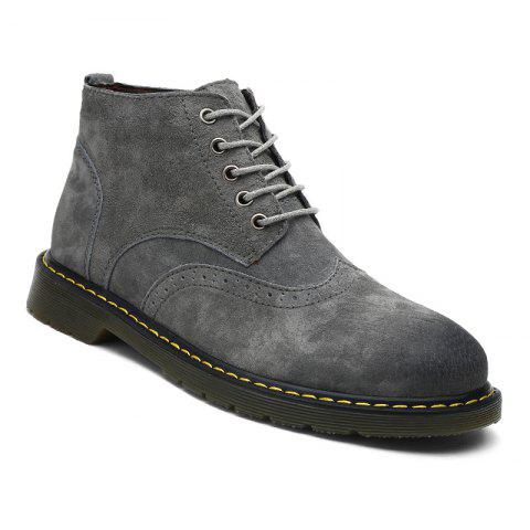 Fashion Men's Casual  Leather Soft Cowhide Retro Martin Boots
