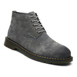 Men's Casual  Leather Soft Cowhide Retro Martin Boots -