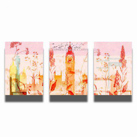 Fashion QiaoJiaHuaYuan No Frame Canvas Three Pieces of Painting Abstract Scenery Living Room Sofa Background Decoration Hanging