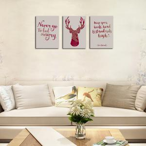 QiaoJiaHuaYuan No Frame Canvas Tree a Picture of the Living Room Sofa English Letter elk Print -