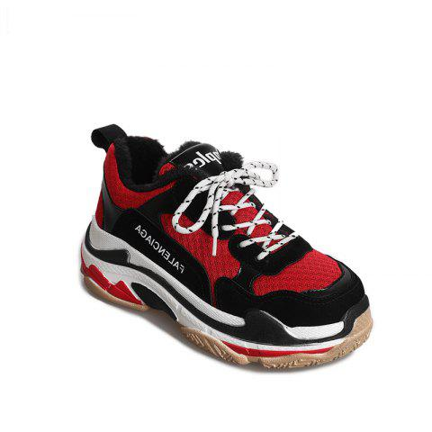 Outfits Round Color Rubber Soled Flatform Shoes Sports Shoes
