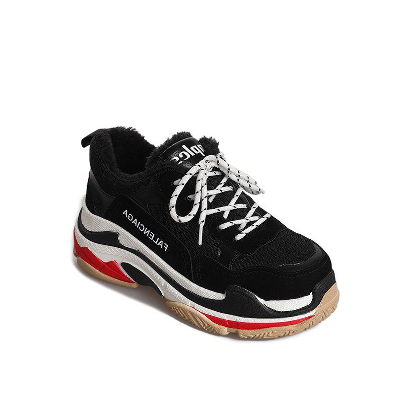 Chic Round Color Rubber Soled Flatform Shoes Sports Shoes