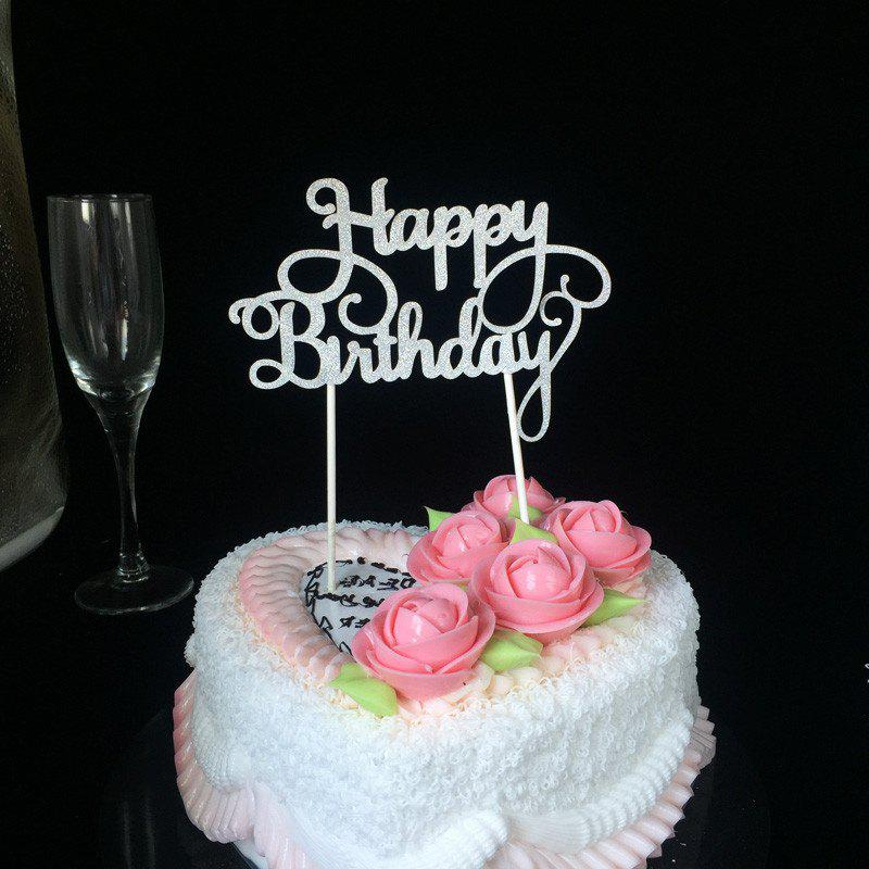 Happy Kitchen Decoration Cake: [37% OFF] Cake Topper Simple Birthday Design Decorative Party