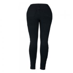 High Waist Knee Hole Stretch Jeans -