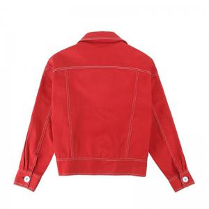 Lady's Red Jacket Baseball Jacket -