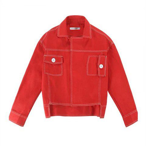 Fancy Lady's Red Jacket Baseball Jacket
