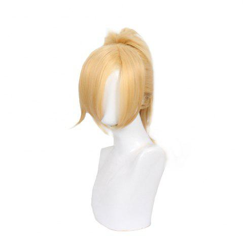 Shops Blonde Long Straight Hair with Ponytail Synthetic Cosplay Lolita Style Capless Costume Wig