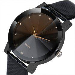Luxury Quartz Sport Watches Men Women Stainless Steel Dial Leather Band Watch -