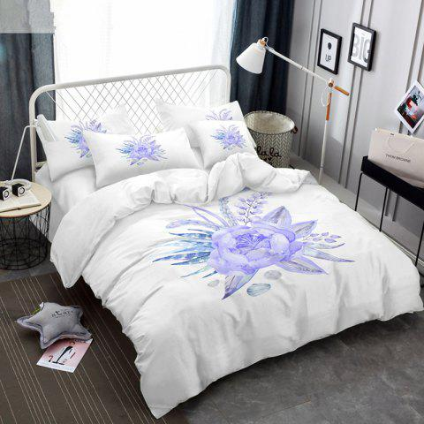Buy Imitation Embroidered and Painted Series Pattern Leaf Design Fresh and Comfortable High Grade Bedding set