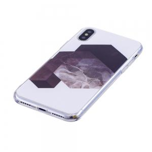 TPU Soft Case for iPhone X Geometric Marble Style Back Cover -