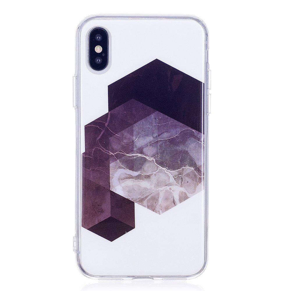 Discount TPU Soft Case for iPhone X Geometric Marble Style Back Cover