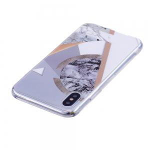 TPU Soft Case for iPhone X Joining Marble Style Back Cover -