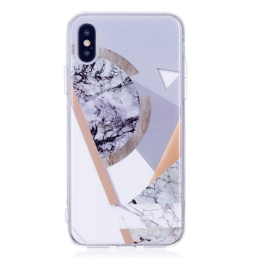 Affordable TPU Soft Case for iPhone X Joining Marble Style Back Cover