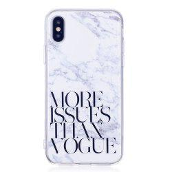 TPU Soft Case for iPhone X Letter Marble Style Back Cover -