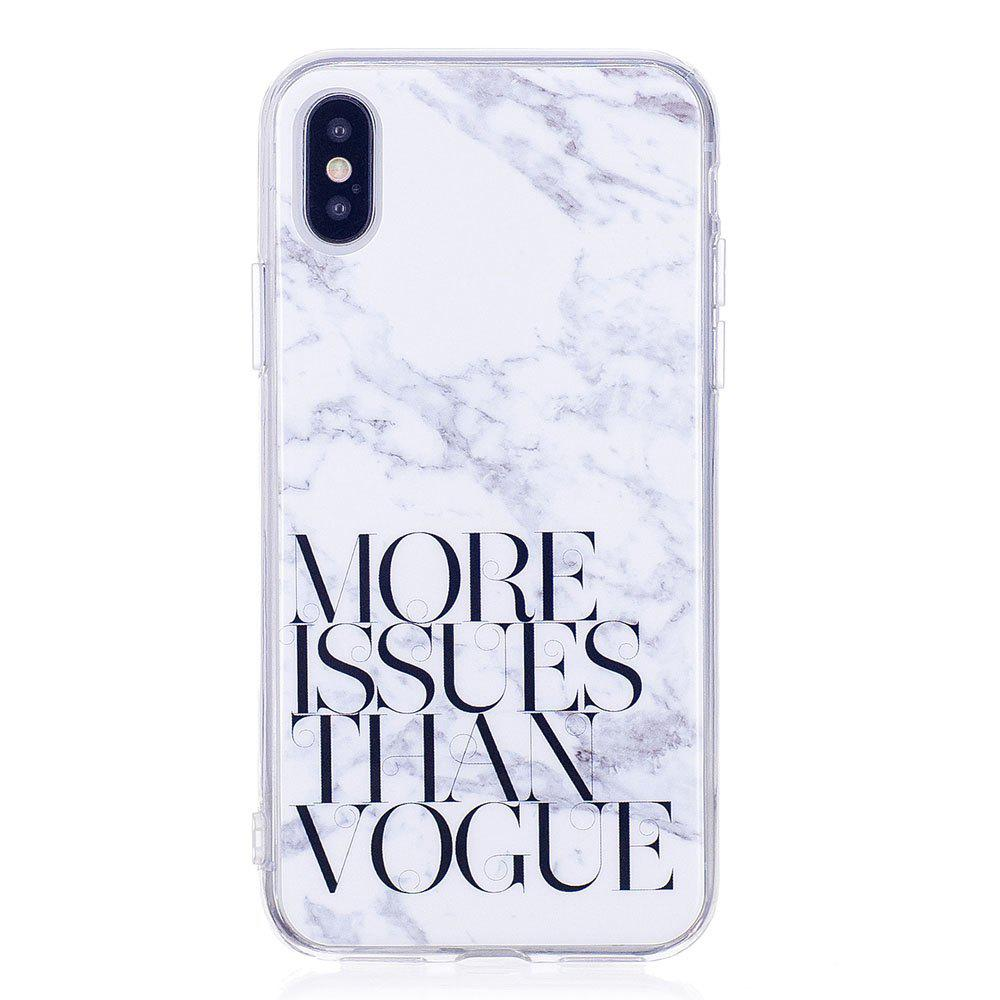 Chic TPU Soft Case for iPhone X Letter Marble Style Back Cover