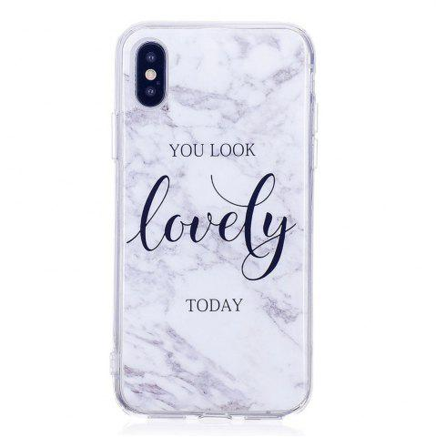 Store TPU Soft Case for iPhone X Lovely You Marble Style Back Cover