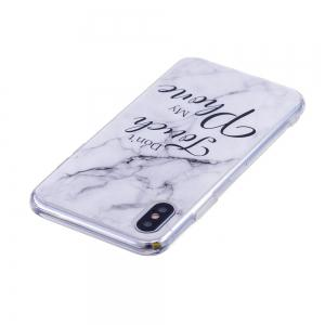 TPU Soft Case for iPhone X My Phone Marble Style Back Cover -