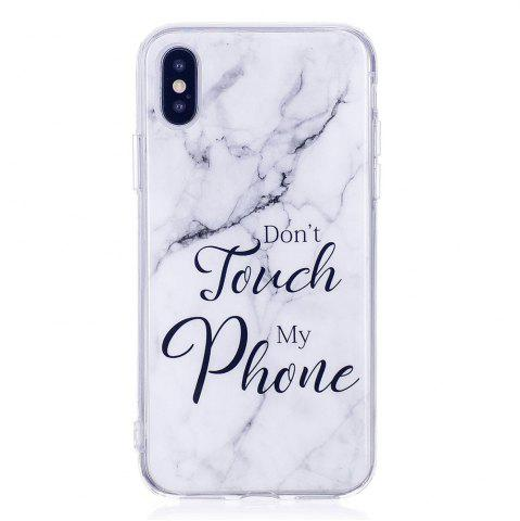 Sale TPU Soft Case for iPhone X My Phone Marble Style Back Cover
