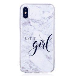 TPU Soft Case for iPhone X Girl Marble Style Back Cover -