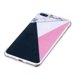 TPU Soft Case for iPhone 7 Plus / 8 Plus Bab Marble Style Back Cover -