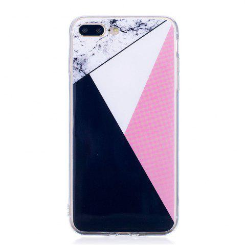 Fancy TPU Soft Case for iPhone 7 Plus / 8 Plus Bab Marble Style Back Cover