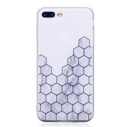TPU Soft Case for iPhone 7 Plus / 8 Plus Cubic Marble Style Back Cover -